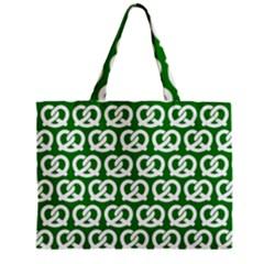 Green Pretzel Illustrations Pattern Zipper Tiny Tote Bags