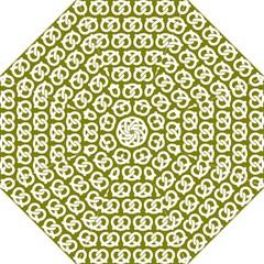 Olive Pretzel Illustrations Pattern Folding Umbrellas