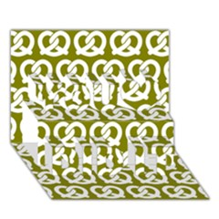 Olive Pretzel Illustrations Pattern You Did It 3d Greeting Card (7x5)