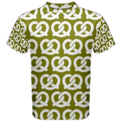 Olive Pretzel Illustrations Pattern Men s Cotton Tees