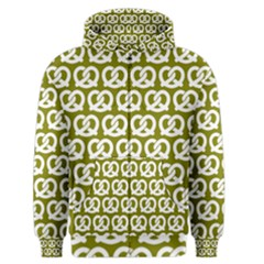 Olive Pretzel Illustrations Pattern Men s Zipper Hoodies