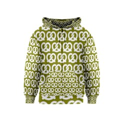 Olive Pretzel Illustrations Pattern Kids Zipper Hoodies