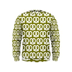 Olive Pretzel Illustrations Pattern Boys  Sweatshirts