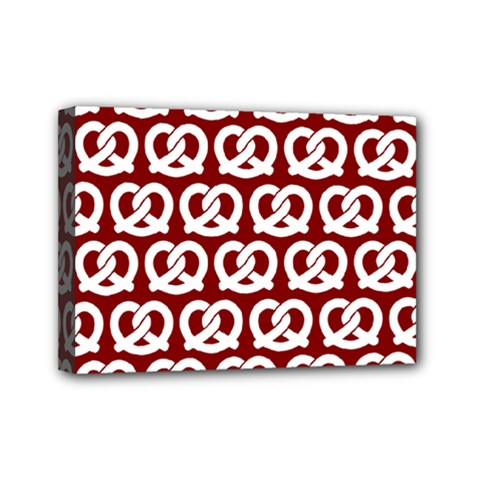 Red Pretzel Illustrations Pattern Mini Canvas 7  x 5