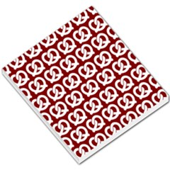 Red Pretzel Illustrations Pattern Small Memo Pads