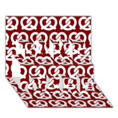 Red Pretzel Illustrations Pattern TAKE CARE 3D Greeting Card (7x5)