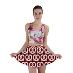 Red Pretzel Illustrations Pattern Mini Skirts