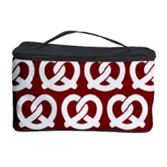 Red Pretzel Illustrations Pattern Cosmetic Storage Cases