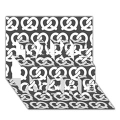 Gray Pretzel Illustrations Pattern TAKE CARE 3D Greeting Card (7x5)