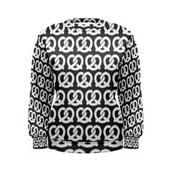 Gray Pretzel Illustrations Pattern Women s Sweatshirts