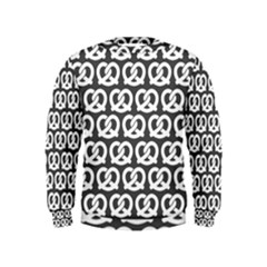 Gray Pretzel Illustrations Pattern Boys  Sweatshirts