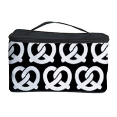 Black And White Pretzel Illustrations Pattern Cosmetic Storage Cases