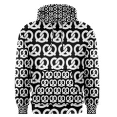 Black And White Pretzel Illustrations Pattern Men s Pullover Hoodies