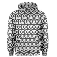 Gray Pretzel Illustrations Pattern Men s Zipper Hoodies