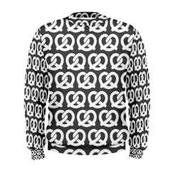Gray Pretzel Illustrations Pattern Men s Sweatshirts