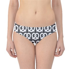 Gray Pretzel Illustrations Pattern Hipster Bikini Bottoms