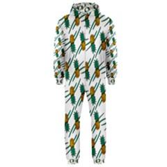 Pineapple Pattern Hooded Jumpsuit (Men)