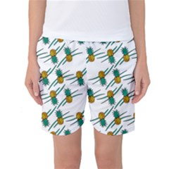 Pineapple Pattern Women s Basketball Shorts