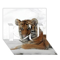 Tiger 2015 0101 I Love You 3D Greeting Card (7x5)