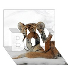 Tiger 2015 0101 Boy 3d Greeting Card (7x5)