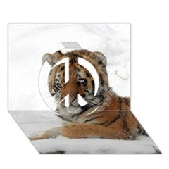 Tiger 2015 0101 Peace Sign 3D Greeting Card (7x5)