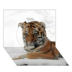 Tiger 2015 0101 Circle 3D Greeting Card (7x5)