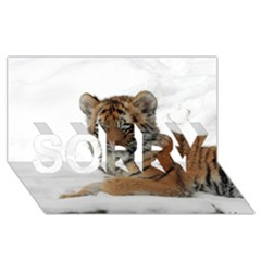 Tiger 2015 0101 Sorry 3d Greeting Card (8x4)
