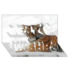 Tiger 2015 0101 Best Wish 3d Greeting Card (8x4)