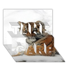 Tiger 2015 0101 Take Care 3d Greeting Card (7x5)
