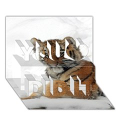 Tiger 2015 0101 You Did It 3D Greeting Card (7x5)