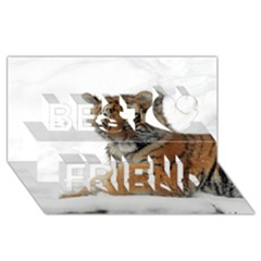 Tiger 2015 0101 Best Friends 3D Greeting Card (8x4)