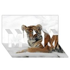 Tiger 2015 0101 MOM 3D Greeting Card (8x4)