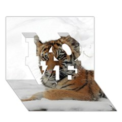 Tiger 2015 0101 Love 3d Greeting Card (7x5)
