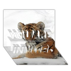 Tiger 2015 0101 You Are Invited 3d Greeting Card (7x5)