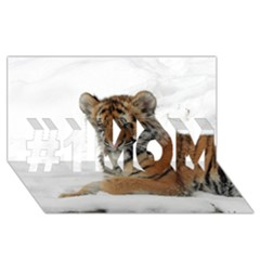 Tiger 2015 0101 #1 MOM 3D Greeting Cards (8x4)
