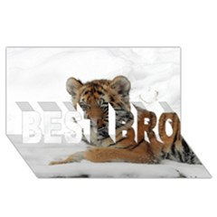 Tiger 2015 0101 Best Bro 3d Greeting Card (8x4)