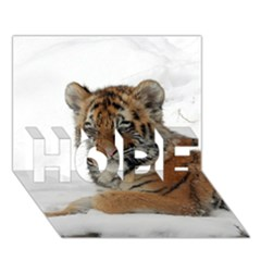 Tiger 2015 0101 Hope 3d Greeting Card (7x5)