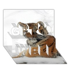 Tiger 2015 0101 Get Well 3D Greeting Card (7x5)