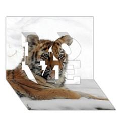 Tiger 2015 0102 LOVE 3D Greeting Card (7x5)
