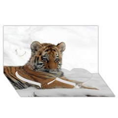 Tiger 2015 0102 Twin Heart Bottom 3d Greeting Card (8x4)