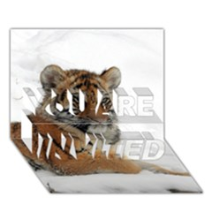 Tiger 2015 0102 YOU ARE INVITED 3D Greeting Card (7x5)