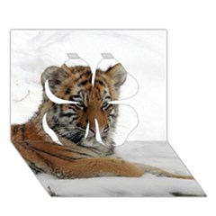 Tiger 2015 0102 Clover 3d Greeting Card (7x5)