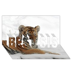 Tiger 2015 0102 Best Sis 3d Greeting Card (8x4)