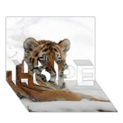 Tiger 2015 0102 Hope 3d Greeting Card (7x5)