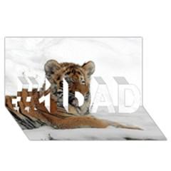 Tiger 2015 0102 #1 DAD 3D Greeting Card (8x4)