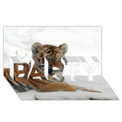 Tiger 2015 0102 PARTY 3D Greeting Card (8x4)