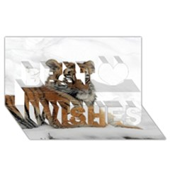 Tiger 2015 0102 Best Wish 3D Greeting Card (8x4)