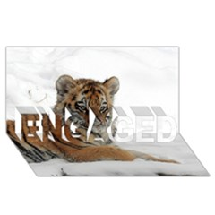 Tiger 2015 0102 Engaged 3d Greeting Card (8x4)