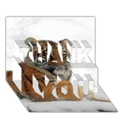 Tiger 2015 0102 THANK YOU 3D Greeting Card (7x5)