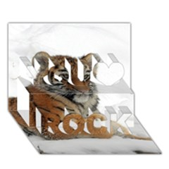 Tiger 2015 0102 You Rock 3D Greeting Card (7x5)